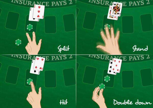 Blackjack, Hit, Stand, Split, Double Down